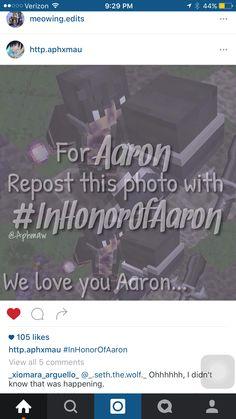Repin!!! #RememberAaron #InHonourOfAaron we love you Aaron