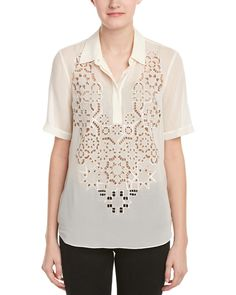 Rebecca Taylor Mosaic Cutout Silk Top is on Rue. Shop it now.