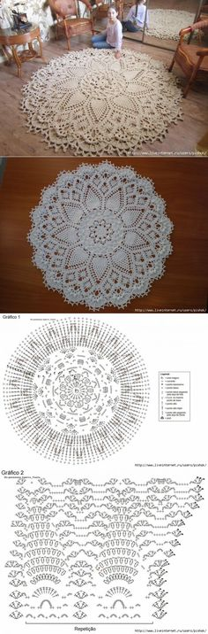 "Салфетка-ковер «DOILY » альбом ""THE BEST OF PATRICIA KRISTOFFERSEN "" [] #<br/> # #Crochet #Home,<br/> # #Crochet #Rugs,<br/> # #Crochet #Patterns,<br/> # #Doilies,<br/> # #The #O"