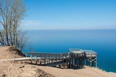 No list of northern Michigan scenery is complete without a mention of Pierce Stocking Scenic Drive. Situated between Glen Arbor and Empire it offers views over the dunes and across Lake Michigan.