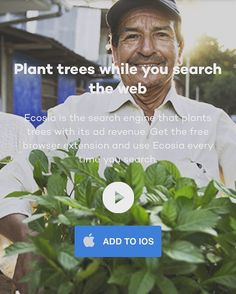 """""""Ecosia is the search engine that plants trees with its ad revenue. Get the free browser extension and use Ecosia every time you search. Link: in the bio  #digitalmarketing #marketing #marketers #ppc #paidsearch #paidsocial #paidmedia #ecosia #trees #natu"""
