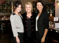 Christina (Centre) with the lovely Deirdre O'Kane and Sarah Greene who both play her at different stages in the Noble Movie