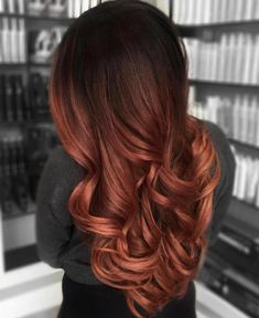 Red Balayage Hair, Hair Highlights, Ombre Hair, Ombre For Dark Hair, Red Balyage, Dark Ombre, Hair Color And Cut, Hair Color Dark, Cool Hair Color