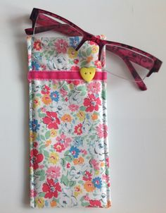 Cath Kidston Ditsy Fabric Glasses Case by sewmoira on Etsy