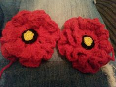 Hand made poppies