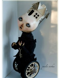 THE KEY art doll sculpture by paulanerhus on Etsy
