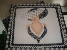 Resultado de imagem para riscos de dama antiga para patchwork embutido