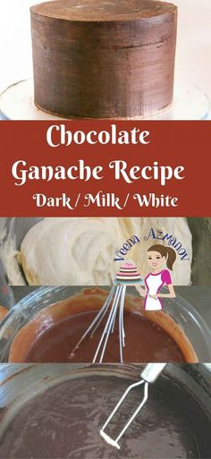Chocolate Ganache is an absolute treat you can add to any cake or cupcake. It is the perfect frosting you can use when decorating cakes, especially novelty cakes. The firmness of the chocolate can be a real blessing to cake decorators when working shaped cakes. Here I give you all three recipes -Dark, Milk and white chocolate Ganache that you can use as a Filling or Frosting for dessert or Fondant decorated cakes.