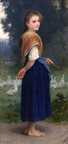 The Goose Girl - William Adolphe Bouguereau (1825 – 1905, French)