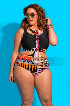 0b631afea85ed One of the hottest trends for swimwear this season is a Havana Bandage Plus  Size Pink Swimsuit. Get ready to take a dip in the Havana Bandage one-piece  ...