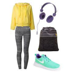 sport by innooka on Polyvore featuring moda, adidas, NIKE, Puma and WeSC