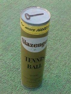 VERY RARE VINTAGE UNOPENED KEYWIND SLAZENGER 4 BALL TENNIS CAN OR TIN (10/05/2011)