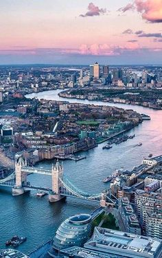 Tower Bridge and River Thames at sunset, London, England   by visitbritain