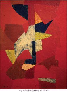 Serge Poliakoff 'Rouge' 1953