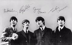 Beatles of course I must include the Fab Four. When they hit the States in 63, I thought they were awful. A year later, I couldn't get enough. I hadn't seen this picture in ages. I had a coin purse with one on it. Still have my charm bracelet, though :D