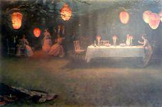 Thomas Cooper Gotch A Night In June