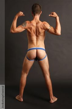 Jockstrap Central model Jack in Obviously Modal Chromatic Jockstrap