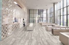 Sienna Mille Grey Ash Wood Porcelain Tile in 6x48, 8x48 and 12x48 Planks.