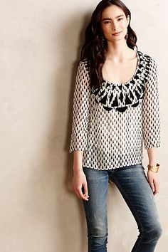 Veda Embroidered #Blouse #Anthropologie