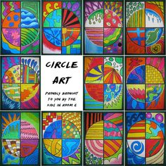 Room 6 - Halcombe School - 2014: Circle Art