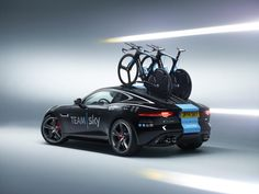 Jaguar F-Type R Coupe support vehicle for Tour de France