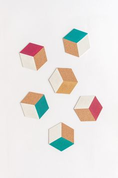DIY porta-copos geométrico e colorido   A Parede Indecisa