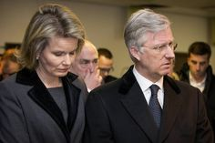 Queen Mathilde and King Philippe visits Brussels Airport in Zaventem