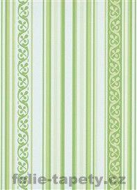 Moderní vliesové tapety Pure Elegance - pruhy zelené motiv