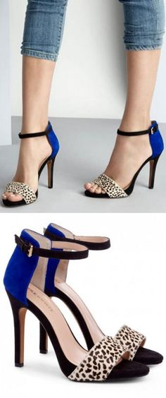 I normally pair my leopard prints with corals, reds and browns but blues are just as cute!