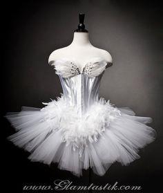 White Swan Ballet costume Burlesque tutu