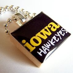 Iowa Hawkeyes Scrabble tile pendant - Love this!  I get lots of compliments!