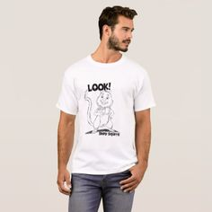 Look! Shiny Squirrel Men's T-Shirt - animal gift ideas animals and pets diy customize