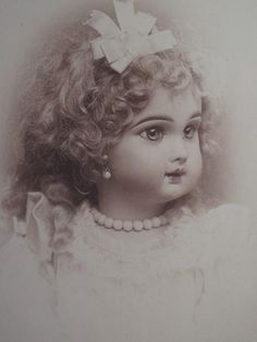EXTREMELY RARE Circa 1880's Cabinet Photograph of Antique Jumeau Bebe Portrait! Taken in Brooklyn by a professional photographer for littleowner of this very beautiful Juneau been. Sold for $365