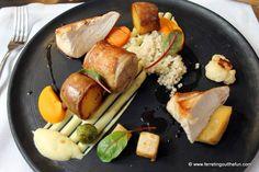 Rustic chicken at Valtera Restaurant in Riga, Latvia.
