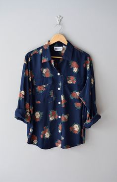 floral blouse via Dear Golden on Etsy.