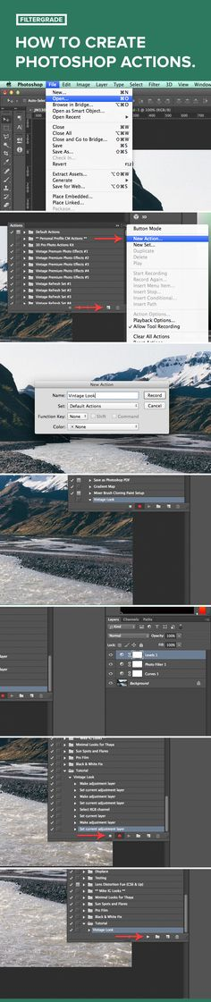 Learn how to make your own Photoshop actions in this tutorial from FilterGrade!