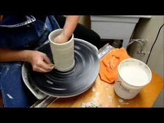 Listen to How to Pull, Raise, and Thin Clay on the Potter's Wheel on ListenOnRepeat Pottery Wheel, Pottery Bowls, Car Wheels, Chrome Wheels, Mason High School, Welding For Beginners, High School Ceramics, Pottery Videos, Wheel Throwing