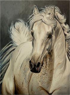 Horse painting by Marta Pulinska