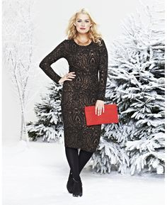Lace Midi Bodycon Dress at Simply Be - 40% site wide free shipping over $75 #garnerstyleblkfri #blackfriday #plussize http://bit.ly/18oDvfK
