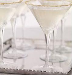signature drinks, gold sugar, weddings, martini, sugar rim, glass, signatur cocktail, cocktails, new years