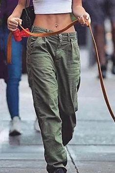 Casual Solid Pockets Long Pants – Regocy Denim Mantel, Pantalon Long, Plus Size Pants, Low Rise Jeans, Linen Pants, Linen Blouse, Black Pants, Casual Pants, Casual Outfits