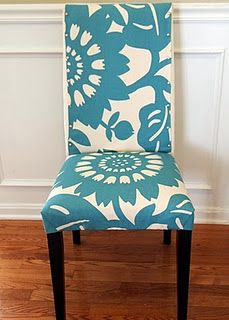 No-sew chair cover....interesting idea