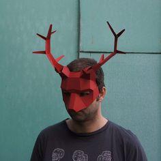 Stag or Reindeer Half Mask - Wintercroft  - 1