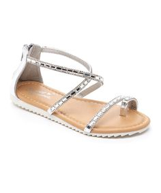 6138bc74a Look at this Sweet Forever Silver Sparkle Sandal on #zulily today! Calzado  Niños,