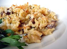 Mushroom-Herb Macaroni & Cheese (uses gruyere and white cheddar)