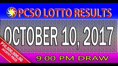 PCSO Lotto Results October 10, 2017 (6/58, 6/49, 6/42, 6D, SWERTRES & EZ...