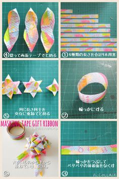 Tape Crafts, Sewing Crafts, Diy And Crafts, Crafts For Kids, Washi Tape Diy, Masking Tape, Origami Paper Art, Diy Paper, Origami Ball