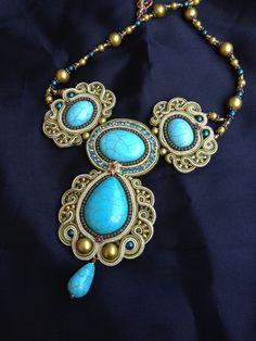 Soutache Jewelry. Soutache necklace. Soutache by PanitaJewellery