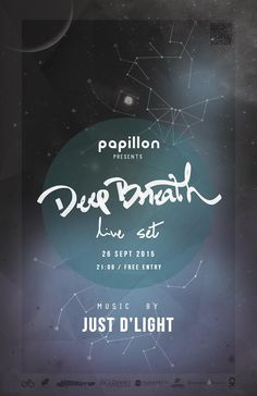 deep Live Set, Free Entry, Deep Breath, Breathe, Presents, Poster, Gifts, Favors, Billboard