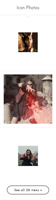 """Icon Photos"" by c-a-marie2000 ❤ liked on Polyvore featuring marvel, wanda maximoff, avengers, images, scarlet witch, delete, marvel/dc, people, icons and pictures"